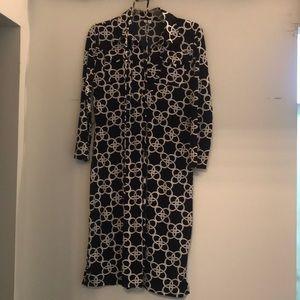 Geometric tie dress